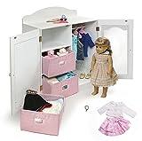 18 Inch Doll Closet, Doll Outfit & Doll Size Charm Bracelet Bundle