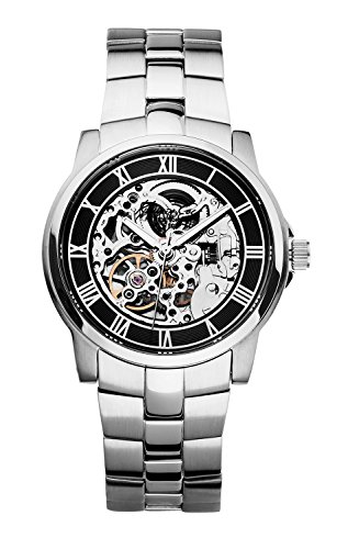 Kenneth Cole Skeleton Watch (Kenneth Cole New York Men's KC3828 Automatic Gunmetal Ion-Plated Bracelet Watch)