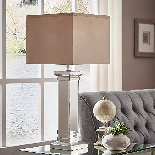 Inspire Q Felton 3-Way Crystal Mirror Base 1-Light Accent Table Lamp by Bold by Inspire Q