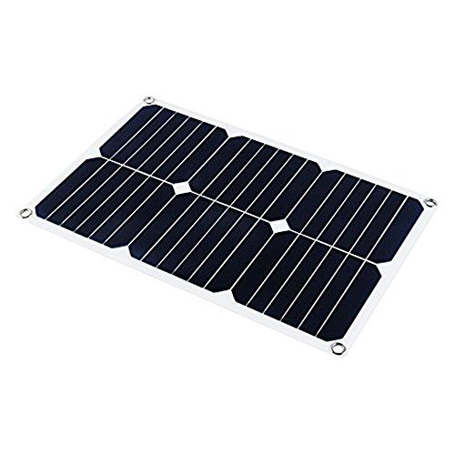 SUNKINGDOM 18V 18W durable ultra light and thin solar car battery panel charger and multiple accessories for portable use by SUNKINGDOM