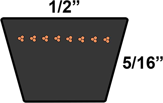 D/&D PowerDrive 1426V298 Variable Speed Belt 1 Band Rubber 29.8 Length