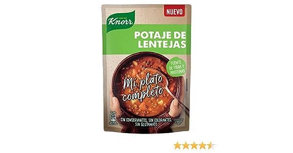 Knorr Mi Plato Completo Crema de Potaje de Lentejas - 375 ml ...