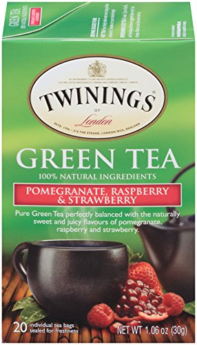 Twinings of London Green Tea Bags, Pomegranate, Raspberry and Strawberry, 20 Count (Pack of 6) ()