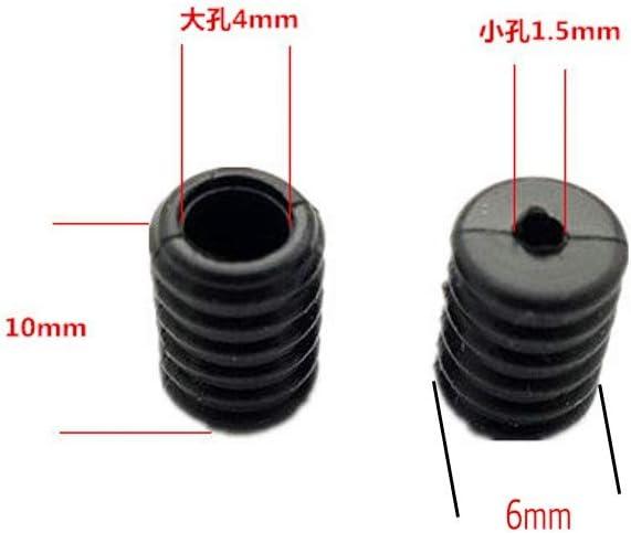 ZHONGJIUYUAN 50pcs Elastic Buckle Cord Buckles Ear Rope Earloop Adjuster Black