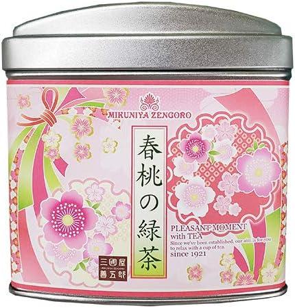 三國屋善五郎 春桃の緑茶 ティーバッグ 2g×10p(大缶) お茶 日本茶 煎茶 桃 ピーチ 桃 ギフト プレゼント 贈り物 季節限定