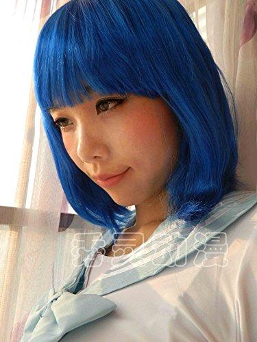 Sau L Halloween / Halloween Chrisas navy blue short hair wig head (spot) wig -