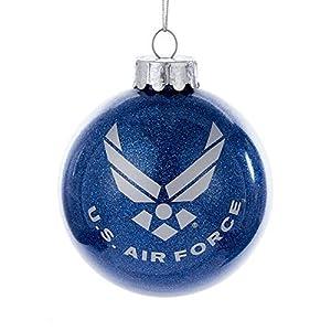 US Air Force Aim High Military 80MM Glass Ball Christmas Ornament USAF AF4161 by Kurt Adler