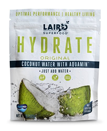 Laird Superfood Organic Coconut Water Powder HYDRATE ORIGINAL | All-Natural | Sugar Free | Gluten Free | Vegan - 8 oz Bag