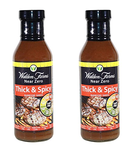 Bbq Sauce Free - Walden Farm - No Carbs, Sugar-Free, Calorie-Free Thick & Spicy Barbeque Sauce - 12-oz. Bottle (Pack of 2)