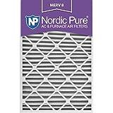 Nordic Pure 24x30x2 MERV 8 Pleated AC Furnace Air Filters, 24x30x2, 3 Piece