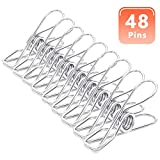 "MCIGICM 2"" Clothespins Stainless Steel Clips: 48"