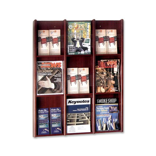 Sandusky Buddy Products Hanging Wall Rack Literature Display Wall Rack (0643-16)
