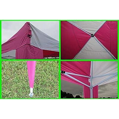 Delta 10'x10' Pop Up Canopy Party Tent Instant Gazebo EZ CS N - Pink/White Canopies : Garden & Outdoor