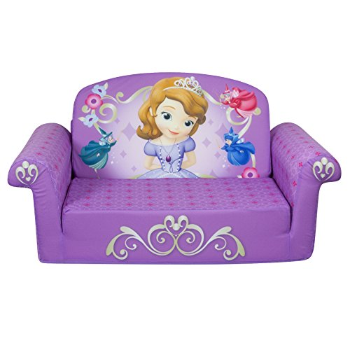 Children's Furniture - 2 in 1 Flip Open Sofa - Disney Princess Sofia The First