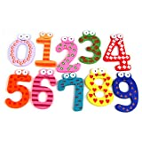 Tinxs Funky Fun Colorful Magnetic Numbers Wooden Fridge Magnets Kids Educational toys