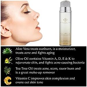 Natural Gentle Foaming Acne & Sensitive Facial Cleanser - Organic Tea Tree, Rose Hip, Vitamins & Aloe Vera for Teens, Adult Men + Women with Dry & Oily Skin. Anti Aging, Pore Cleansing