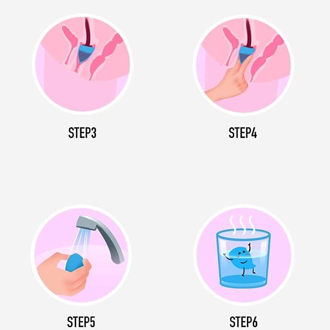 EXCEART 2Pcs Copa Menstrual Reutilizable para Mujer Copa ...