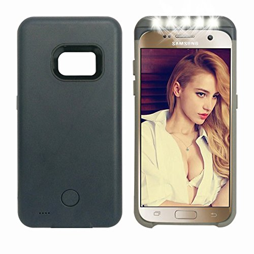 Samsung galaxy s7 LED flash case,Ipeson LED Selfie Case with Power Bank 2600mAh for Samsung Galaxy S7, Adjustable LED Lights Pc + TPU Combo Case,hybrid Protection Case (Dark Blue)