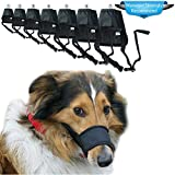 Dog Muzzles Suit Adjustable Anti Biting Barking Muzzle Dog Mouth Cover for Small,Medium and Large Dogs 7PCS