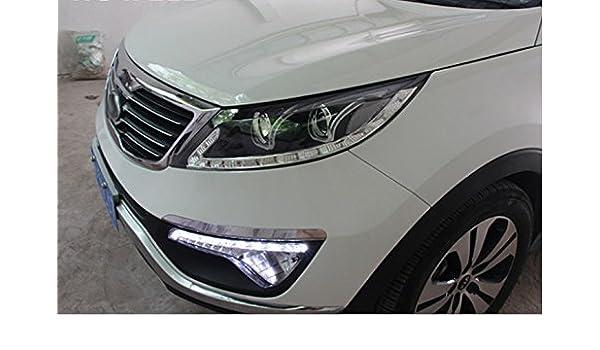 GOWE KIA SPORTAGE R Faros Delanteros LED con Doble Lente U DRL Bi-Xenon HID para automóvil, Accesorios de Temperatura de Color: 8000K; Potencia: 35K: ...