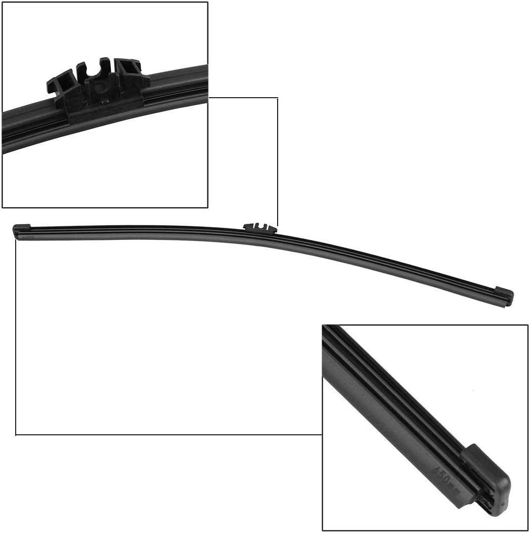 X AUTOHAUX Rear Windshield Wiper Blade Arm Set for Volvo XC60 10-11
