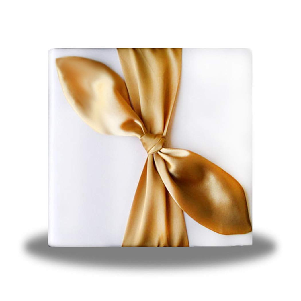 SACASUSA Gold Satin Bow Ivory Photo Album for Any Special Occasions, Great Gift by SACASUSA (Image #1)