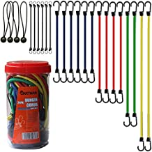 "Cartman Bungee Cords Assortment Jar 24 Piece in Jar - Includes 10"", 18"", 24"", 32"", 40"" Bungee Cord and 8"" Canopy/Tarp Ball Ties"