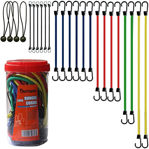 Cartman Bungee Cords Assortment Jar 24 Piece