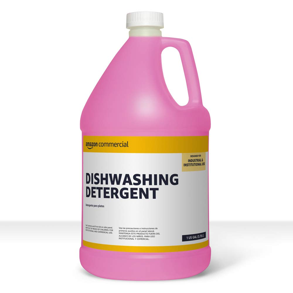 AmazonCommercial Dishwashing Detergent, 1-Gallon, 2-Pack