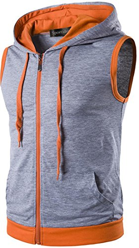 Zipped Sweatshirt Hoodie - 8