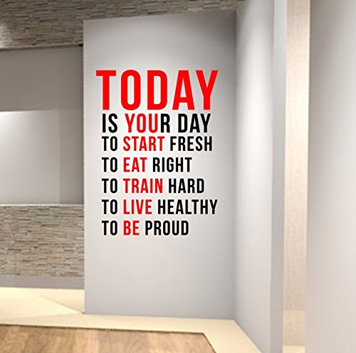 Today is Your Day to Start Fresh... Wall Decal Motivational Quote-Health and Fitness Spinning Kettlebell Crossfit Workout Boxing UFC MMA