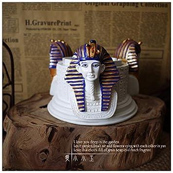XOYOYO Máscara de Oro del faraón Tutankhamon Cenicero creativas Artesanías adornos adornos de carácter Egipto