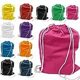 100% Cotton Basic Promo Drawstring Bag by SHOPINUSA (50, Mix)