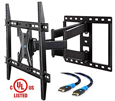 Mounting Dream MD2296-P TV Wall Mount Bracket for Most 42-70 inch LED, LCD and OLED Flat Screen TV, with Full Motion Swivel Articulating Arms