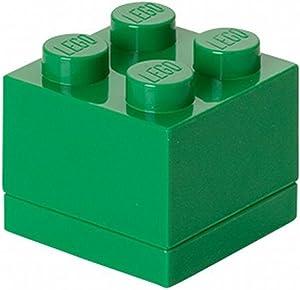 LEGO - 40111734 - Ameublement Et DÃcoration - BoÃte Miniature - Vert Foncà - 4 Plots