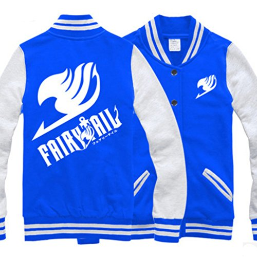 Fairy Tail Cotton Baseball Uniform Unisex Cosplay Costume Autumn and Winter Coat (M, (Winter Fairy Costumes)