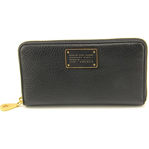 Marc By Marc Jacobs Too Hot to Handle Large Zip Around Women Black NWT (Marc Jacobs Too Hot To Handle Drawstring Bag)