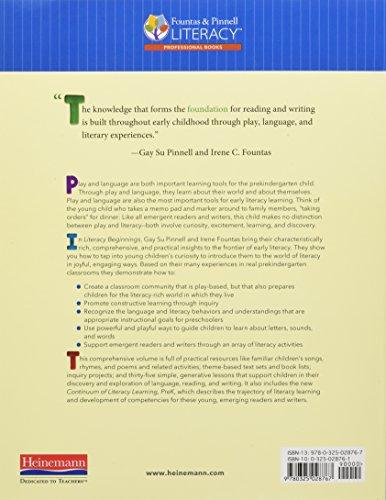 Literacy Beginnings: A Prekindergarten Handbook by Pinnell Gay Su Fountas Irene C (Image #1)