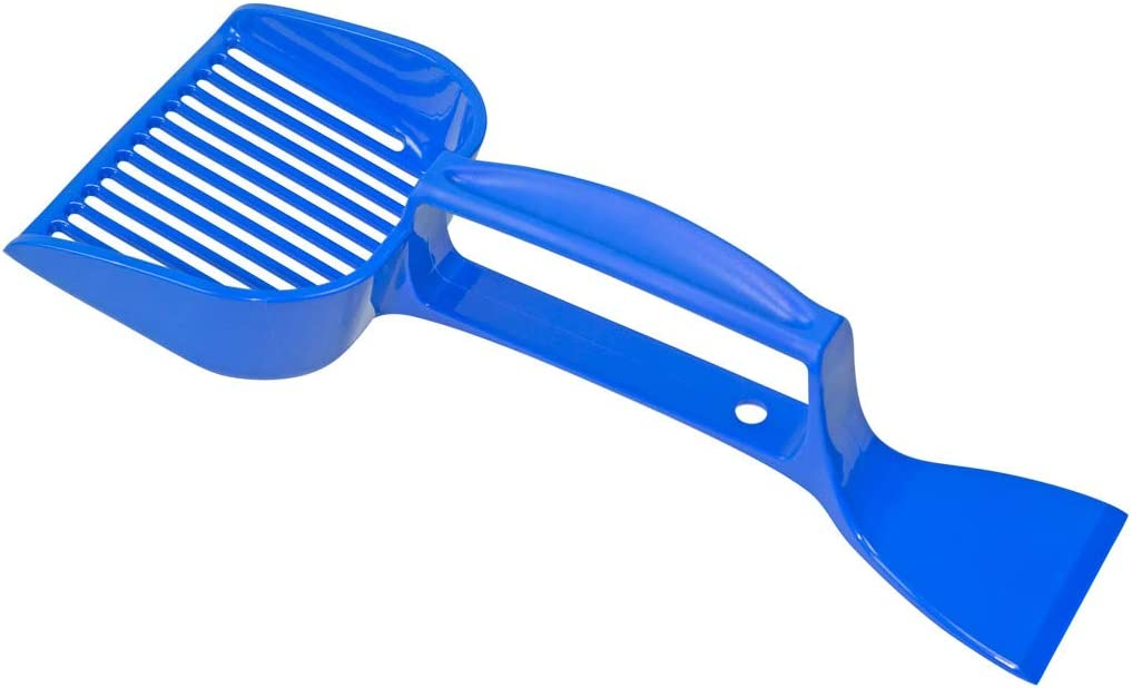 Scrape up and Clean Up After Your Pet Scrape N Scoop Cat Litter Box Scooper with Clump Remover for Kitty Litter Boxes Sift