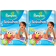 Pampers Splashers Disposable Swim Diapers, 22 Disposable...