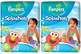 Pampers Splashers Swim Disposable Diapers, Size 5, 22 Count  (Pack of 2)