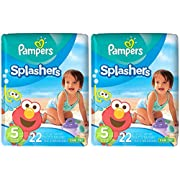 Pampers Splashers Disposable Swim Diapers, Size 6, 21 Count, JUMBO (Pack of 2)