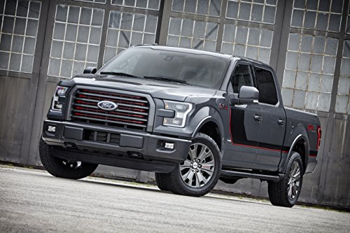 F150 Lariat (Ford F-150 Lariat Appearance Package (2016) Truck Print on 10 Mil Archival Satin Paper Gray Front Side Tilt Static View)