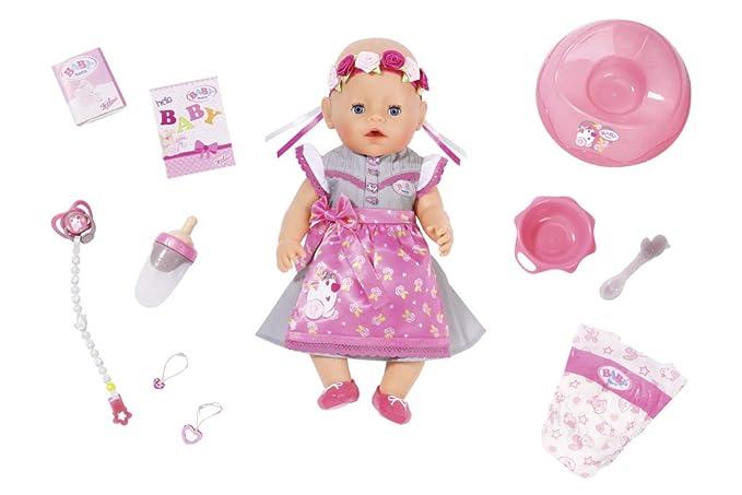 Zapf Creation 827451 Baby Born Soft Touch Dirndl Edition 43cm rosa, grau