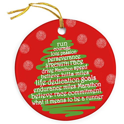 Gone For a Run Running Porcelain Ornaments | Runner Christmas Tree Ornament (Runner Ornament Christmas)