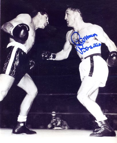 Carmen Basilio (D.) Autographed/ Original Signed 8x10 High-quality Photo - Basilio was a Two-weight Class Boxing Champion in the 1950s