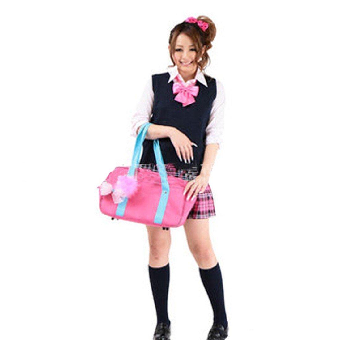 Winson Women Sleeveless V Neck Cotton School Girls JK Uniforms Vests Knitting Tops