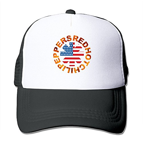 Cool RHCP Red Hot Chili Peppers Trucker Cap Baseball Hat (5 Colors) Black (Chili Pepper Hat)