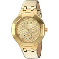 Versus by Versace Women's 'Laguna City' Quartz Gold-Tone and Leather Casual Watch, Color:Gold (Model: VSP360217)