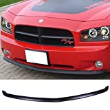 07 dodge charger front bumper - Front Bumper Lip Fits 2005-2010 Dodge Charger | OEM Factory Style Black PU Front Lip Finisher Under Chin Spoiler Add On by IKON MOTORSPORTS | 2006 2007 2008 2009